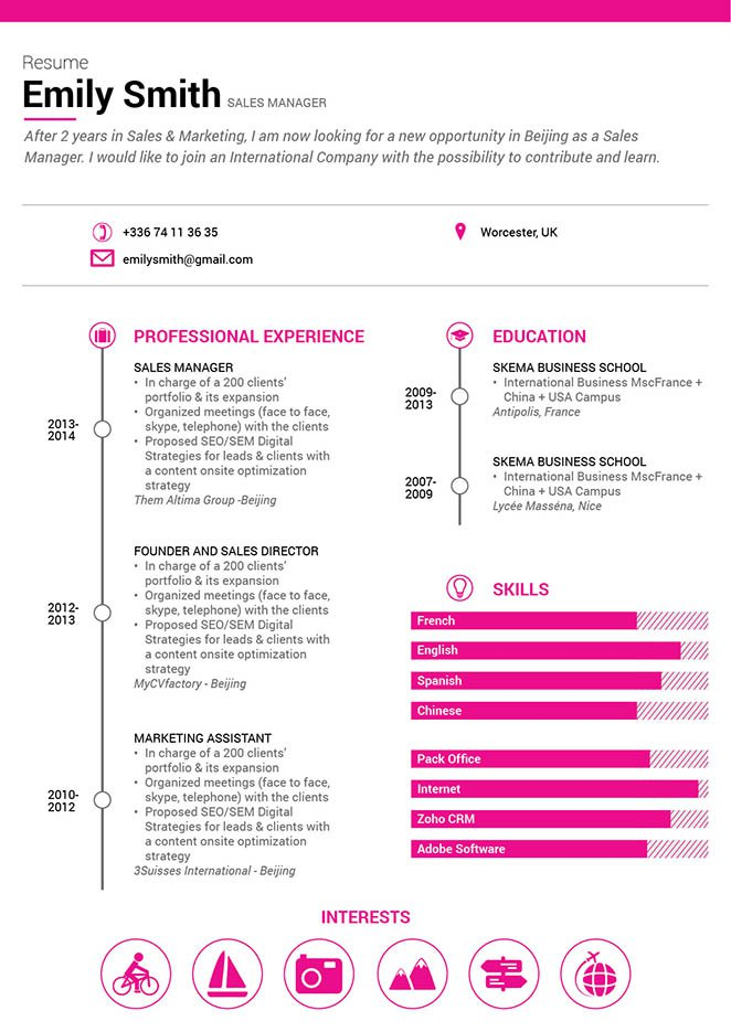 Great ResumeCommunicative Resume · myCVfactory
