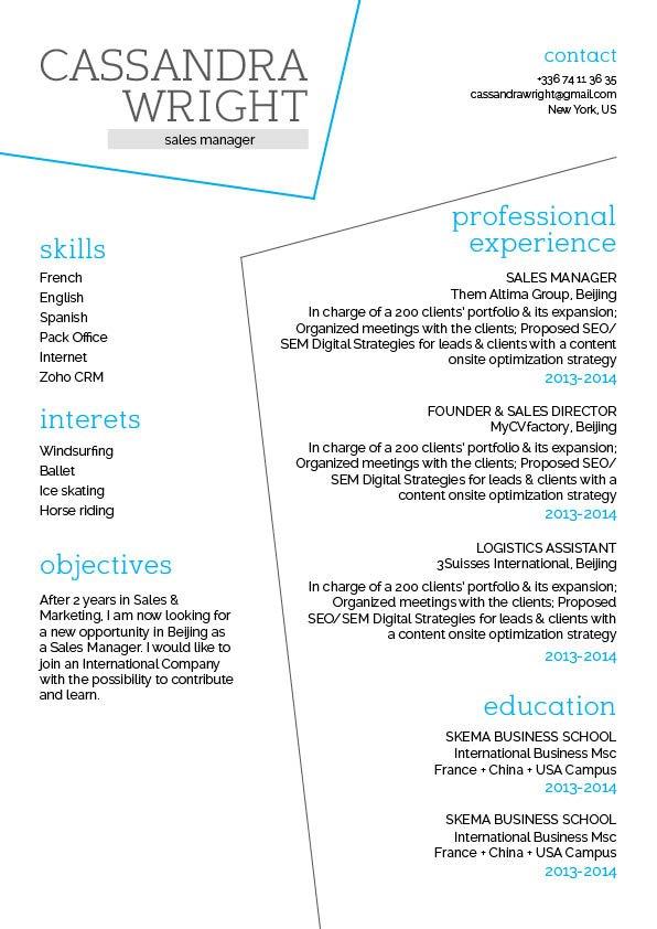 Easy resume template Crazy Resume · myCVfactory
