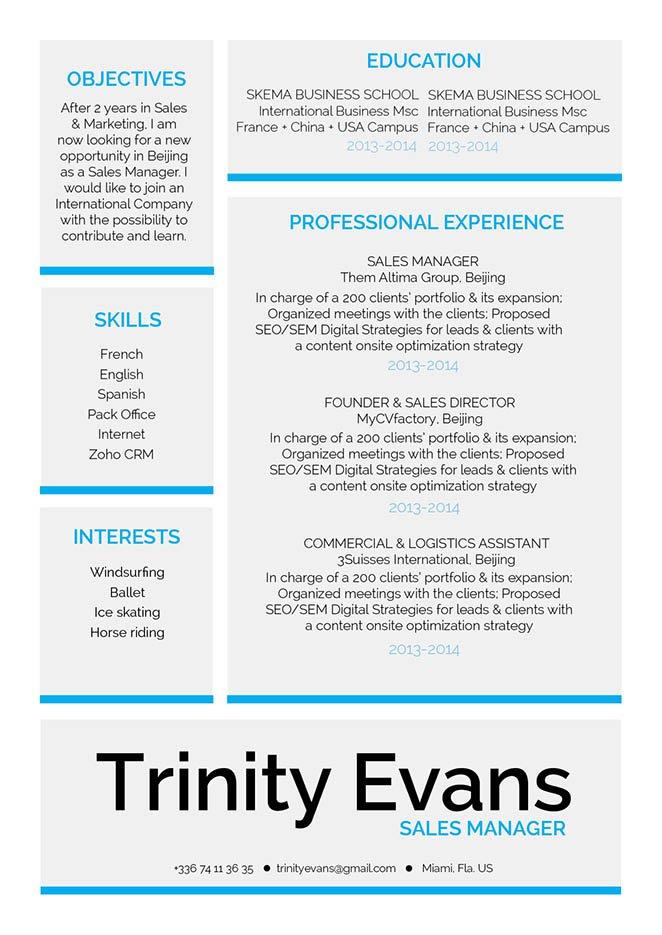Professional resume format Exquisite Resume · myCVfactory