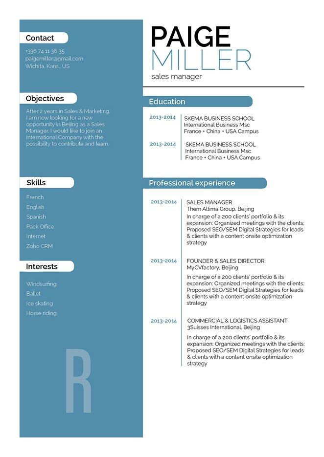 simple resume Erudite Resume- Mycvfactory · myCVfactory