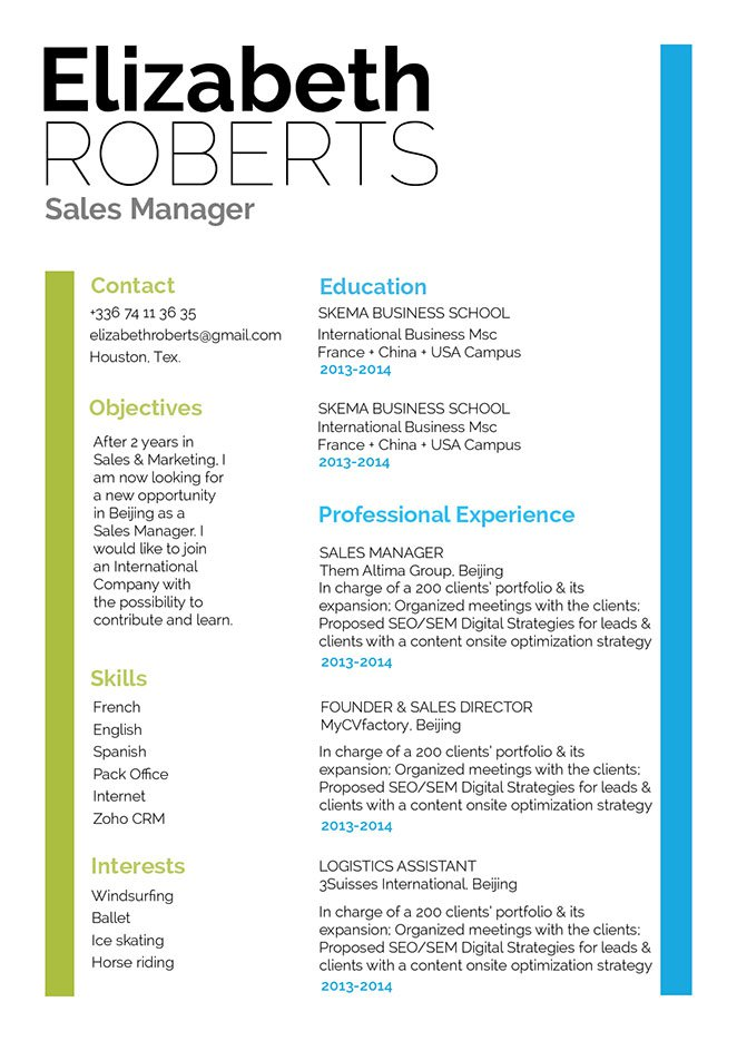 Great Resume Amicable Resume · myCVfactory - resume template tex