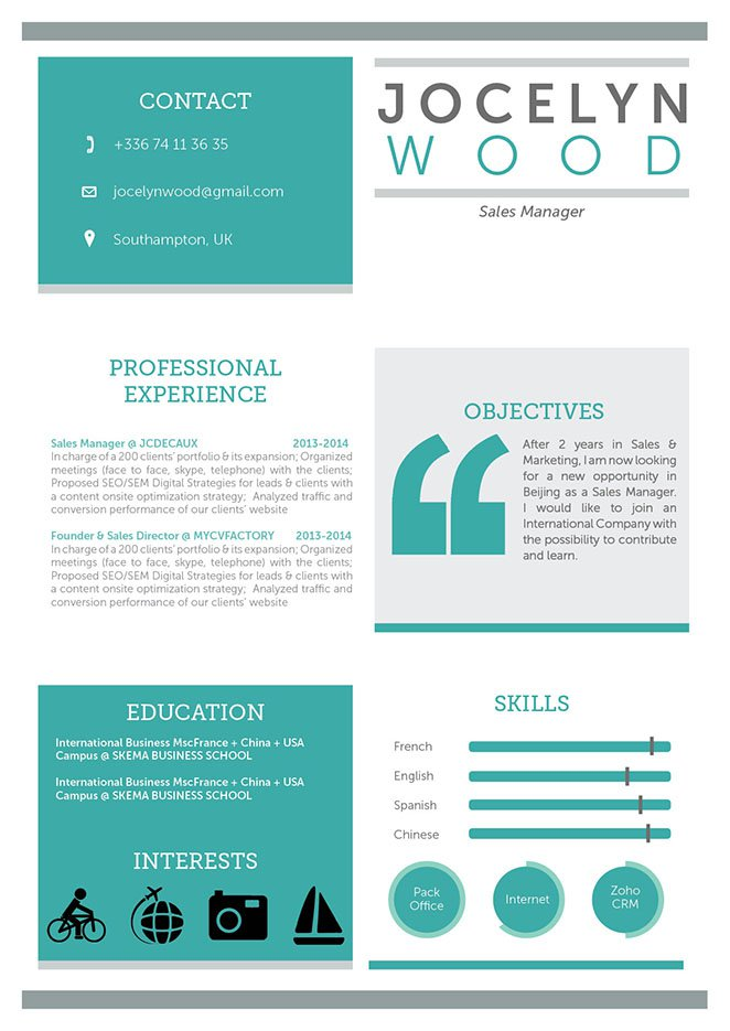 Resume templateImpressive Resume · myCVfactory