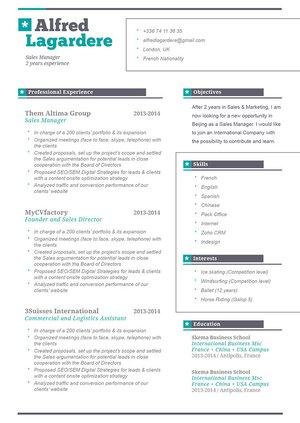 Create an original CV design with mycvfactory · myCVfactory