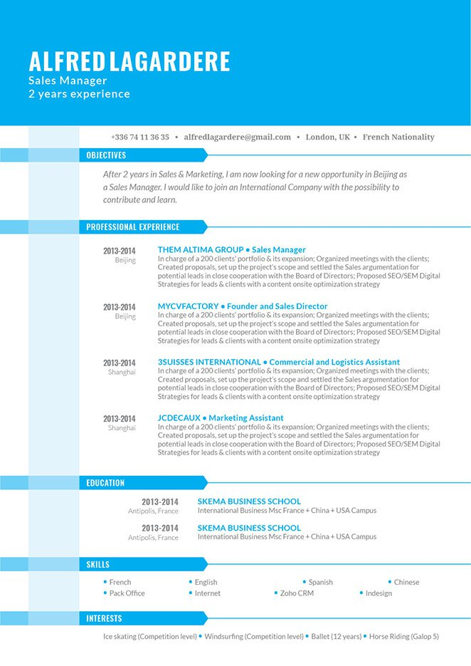 Functional resume templateLogical Resume · myCVfactory - functional cv template