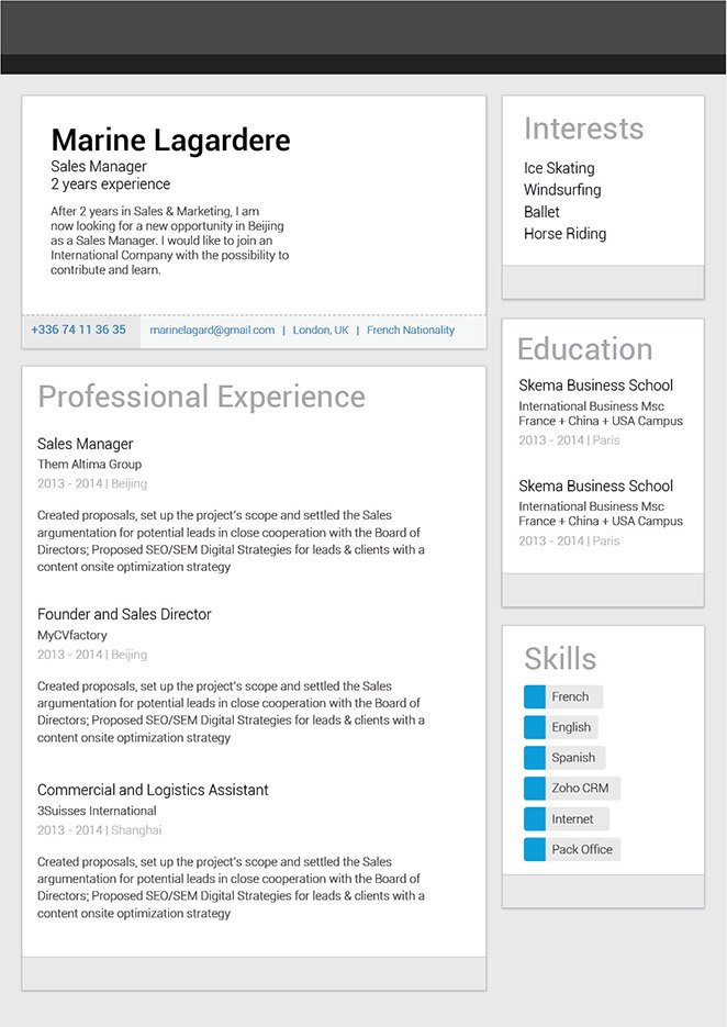 Great resume template Linkedin Resume · myCVfactory - linkedin resume template