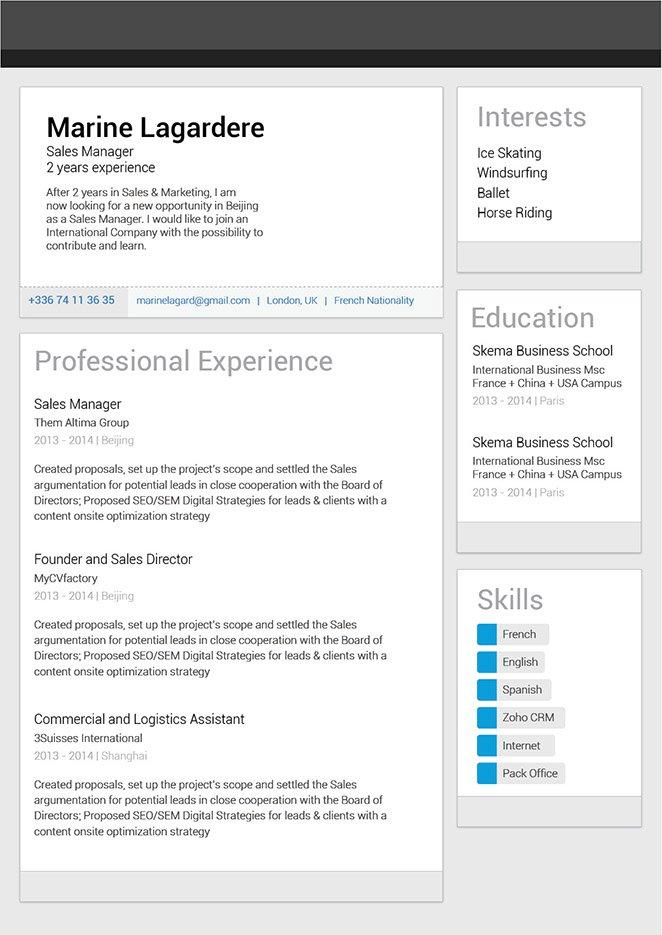 Great resume template Linkedin Resume · myCVfactory