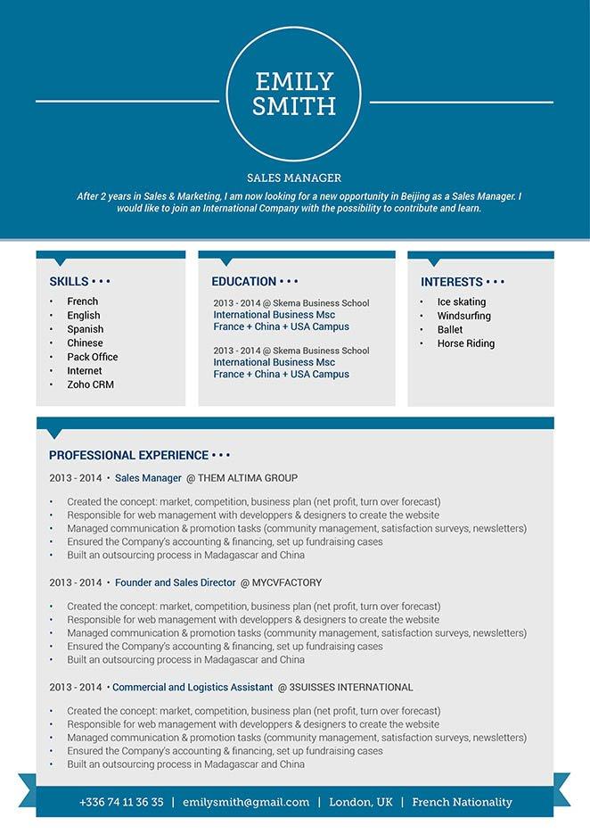 Best sample resume Intelligent Resume · myCVfactory - french accountant sample resume