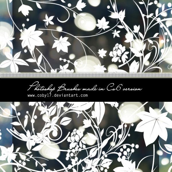 Floral Swirls HD Photoshop Brushes - Photoshop brushes