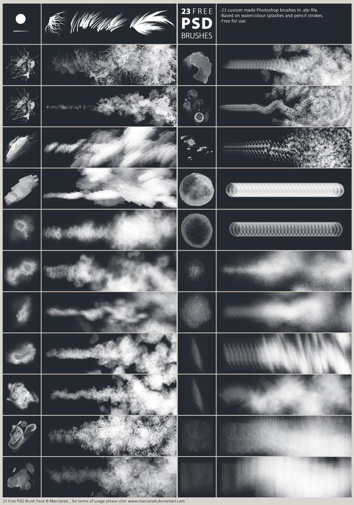 23 Free Brushes for Adobe Photoshop - Photoshop brushes