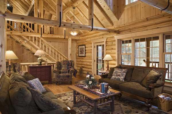 Log Cabin Living Room Decor u2013 Modern House - log cabin living rooms