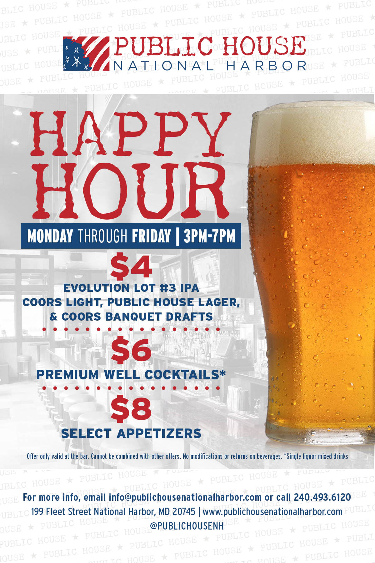 Happy Hour Places Near Me Public House National Harbor Dining National Harbor