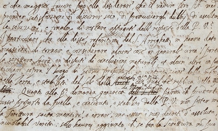 Discovery of Galileo\u0027s long-lost letter shows he edited his