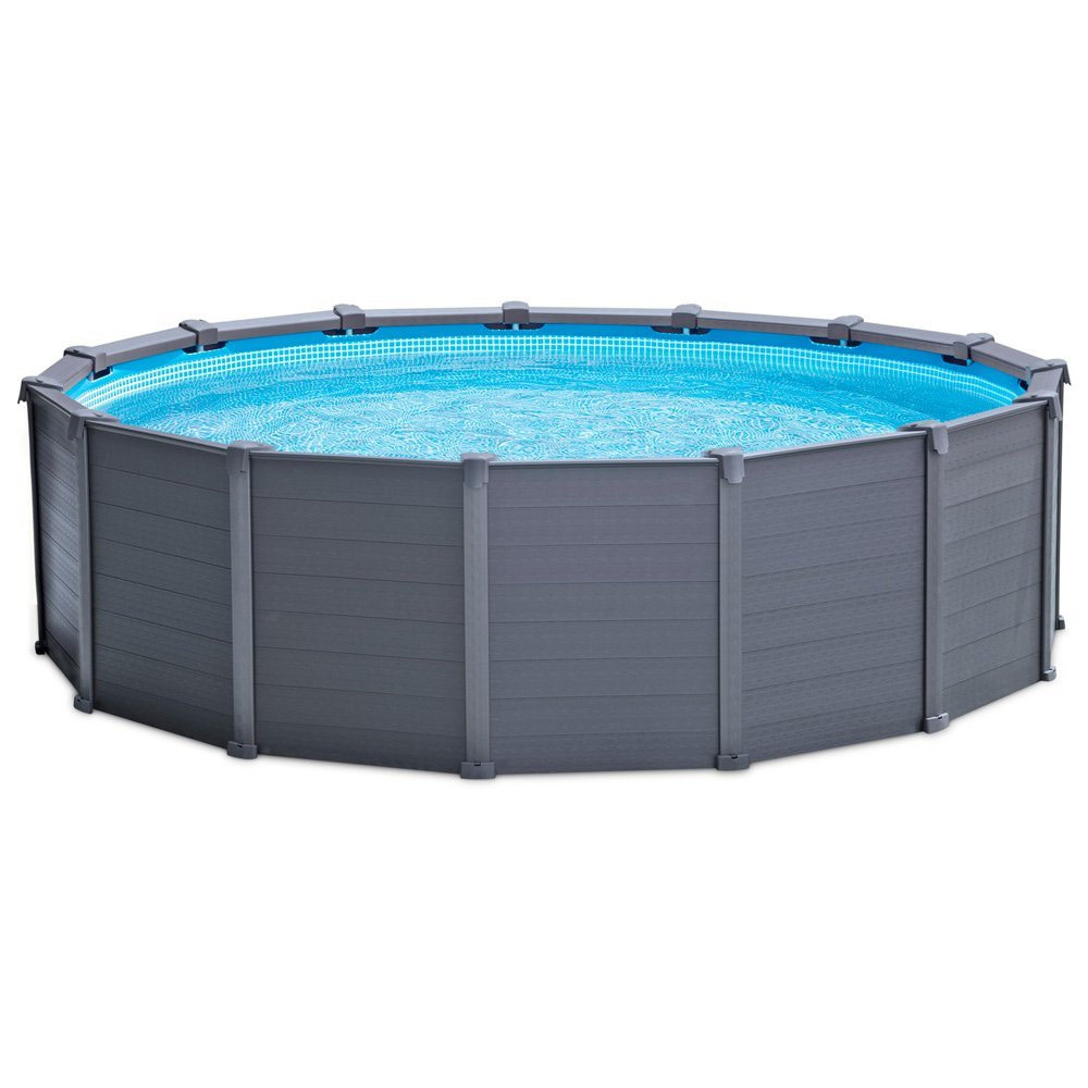 Intex Zwembad Frame Pool Diameter 3 05 M Piscine Tubulaire Ronde Intex Graphite 4,78 X 1,24m Pas