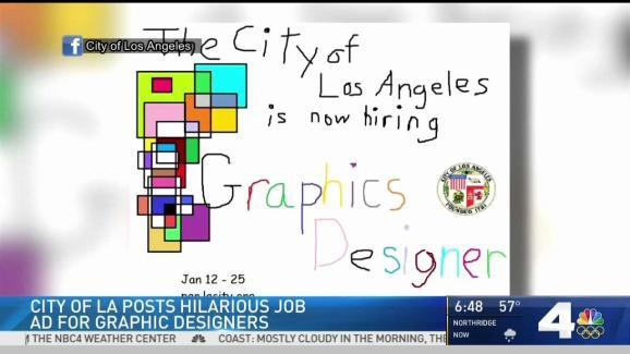 Funny Microsoft Paint Job Ad for LA City Graphic Designer - NBC