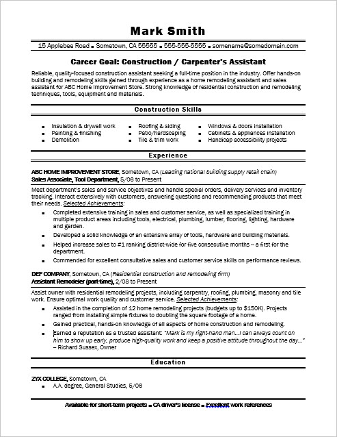 sample resume education and training