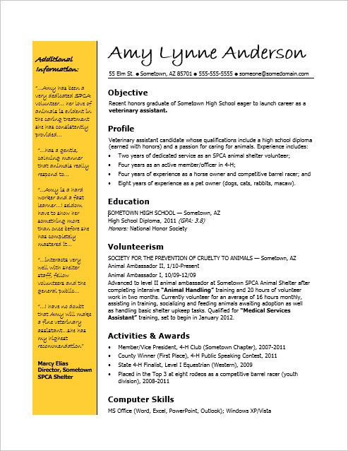 resume for public speaker