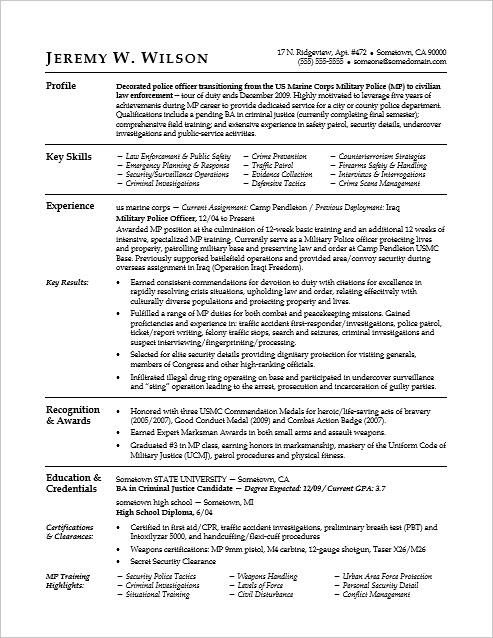 sample resume monster jobs sample resume for a military to civilian transition - Monster Sample Resume