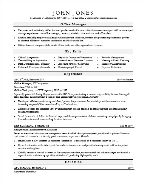 resume examples monster com