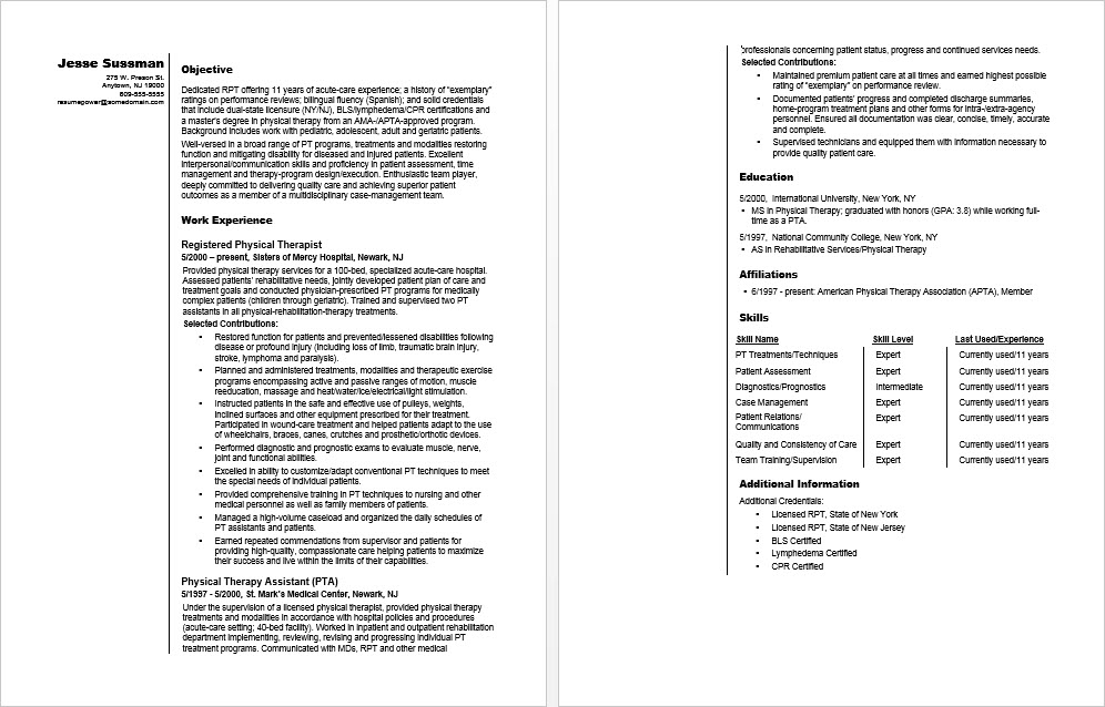 resume advice and tips