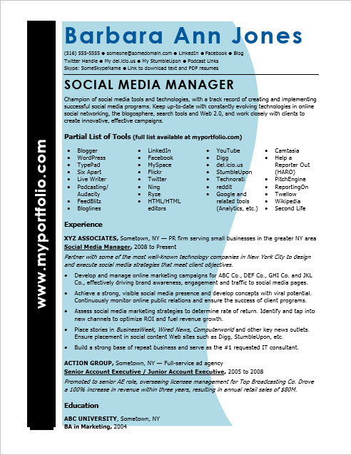 Entry Level Resume Objective Examples Monster Social Media Resume Sample Monster