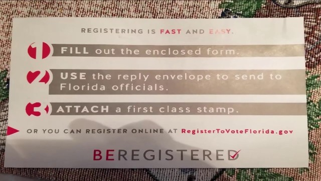 Letter encourages veteran to register to vote, but he\u0027s been