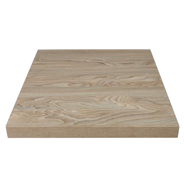 Tischplatte Antik Bolero Pre-drilled Square Table Top Antique Natural 700mm