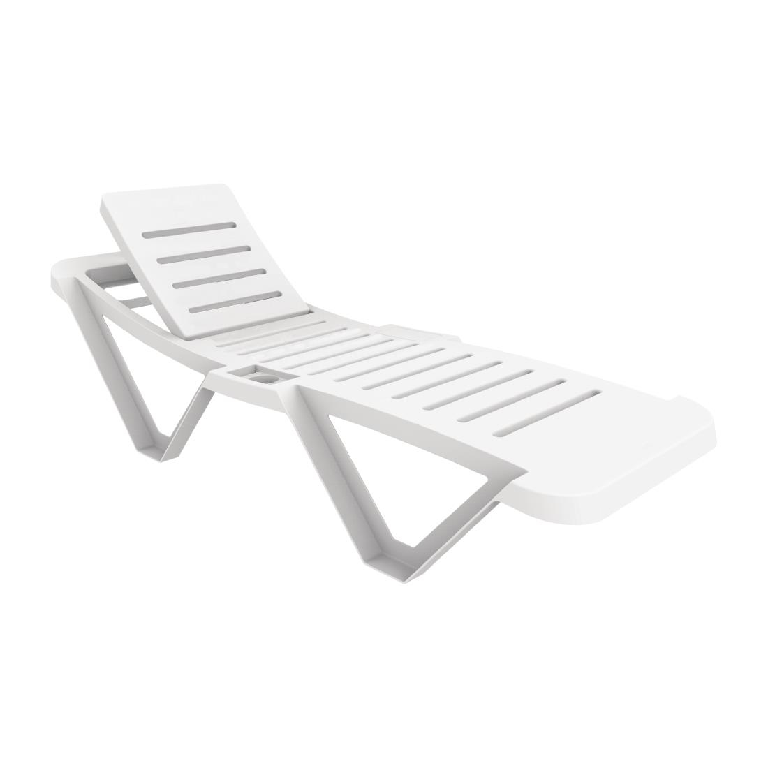 White Plastic Sun Loungers Resol Sun Lounger Pack Of 2