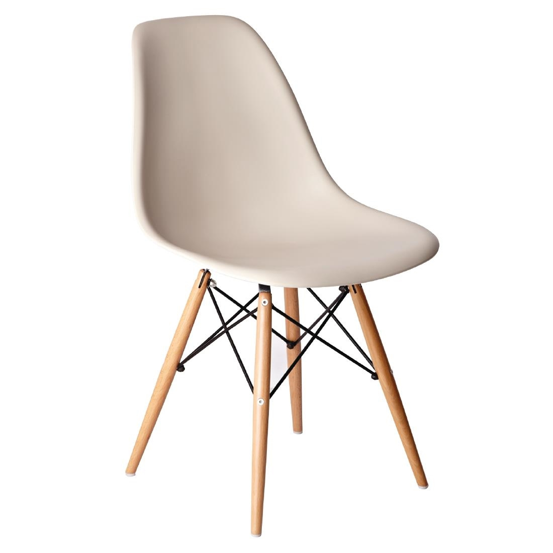 Eames Chair Beige Bolero Beige Polypropylene Replica Eames Chairs Pack Of 2