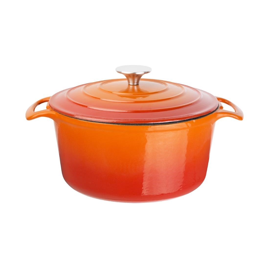 Cast Iron Casserole Dish Vogue Orange Round Casserole Dish 3 2ltr
