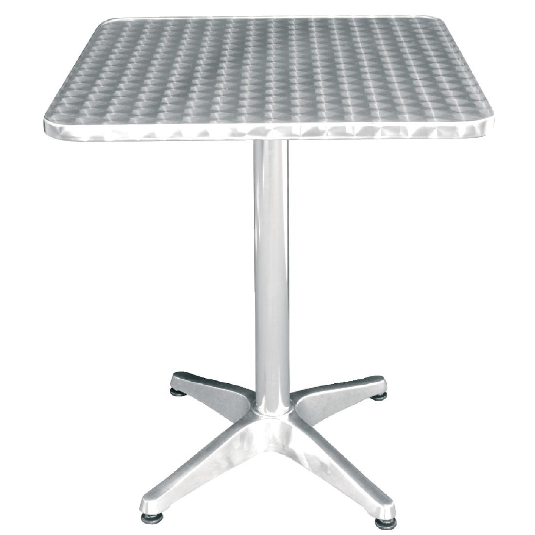 Table Bistrot Aluminium Details About Bolero Square Bistro Table Made Of Stainless Steel And Aluminium 720x600x600mm