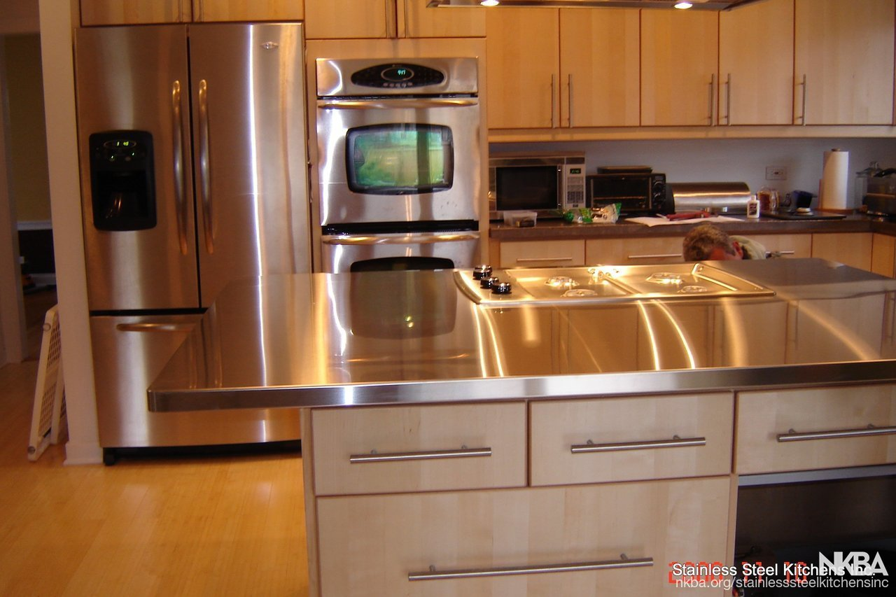 Stainless Countertop Stainless Steel Island Countertop Nkba