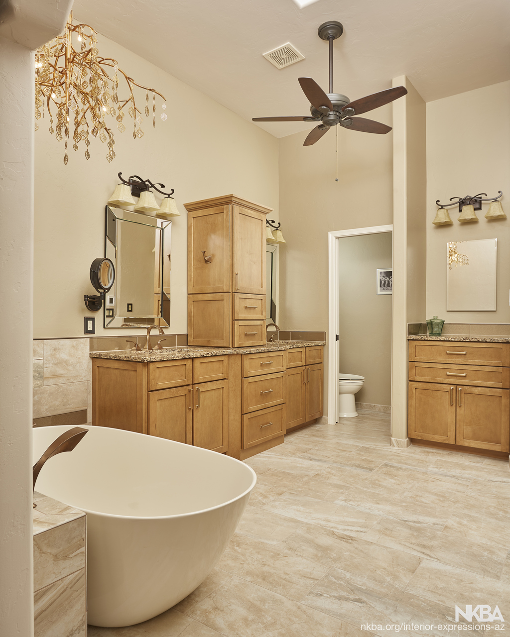 Desert Beige Transitional Bathroom Nkba