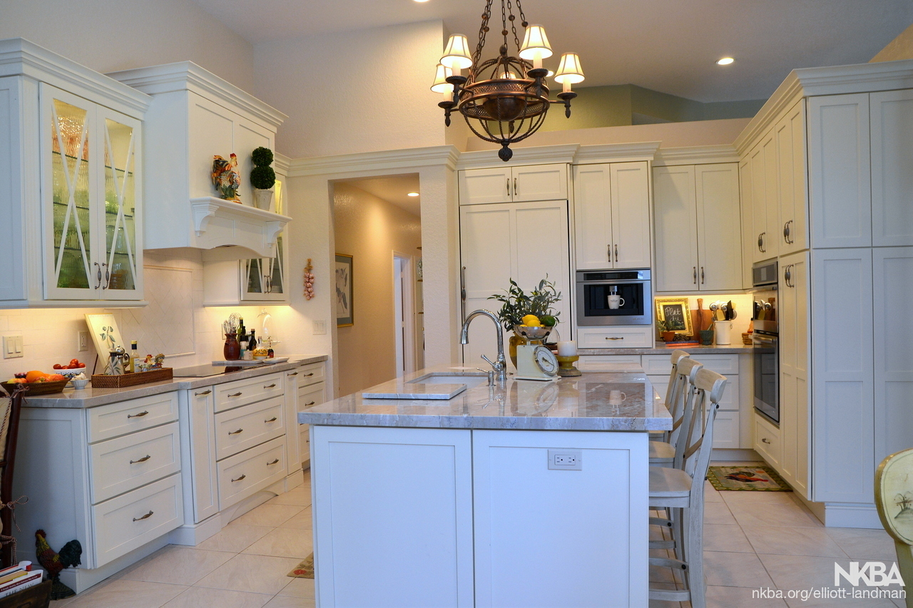 Kitchen Countertop Cabinets Kitchen Remodel With White Cabinets And Quartzite Countertop Nkba