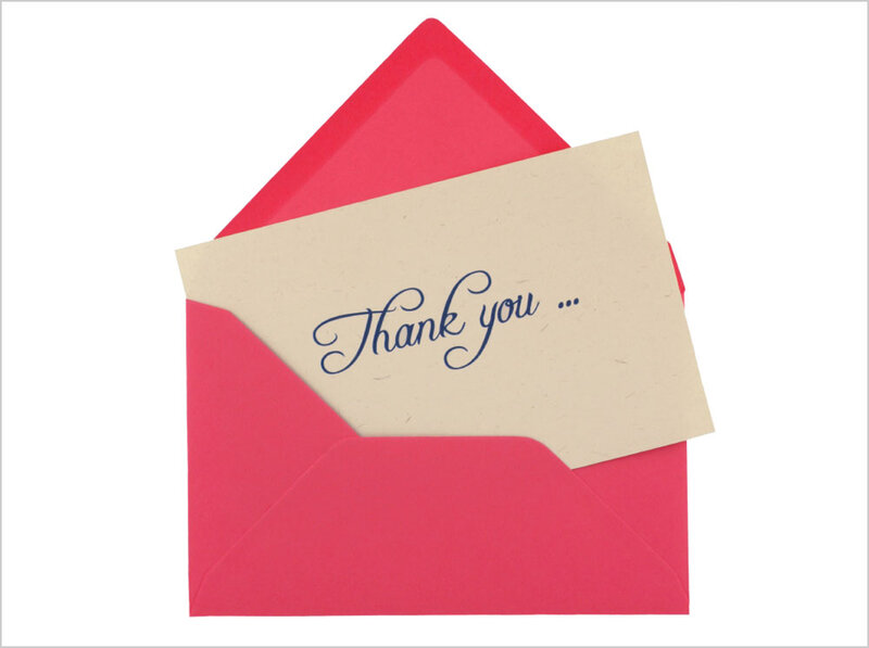 Perfect Thank You Notes Heartfelt And Handwritten  NPR - thank you note