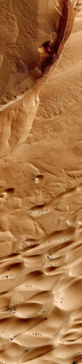 Martian plain from 200 miles up.
