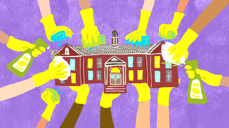 Without Janitors, Students Are In Charge Of Keeping School Shipshape
