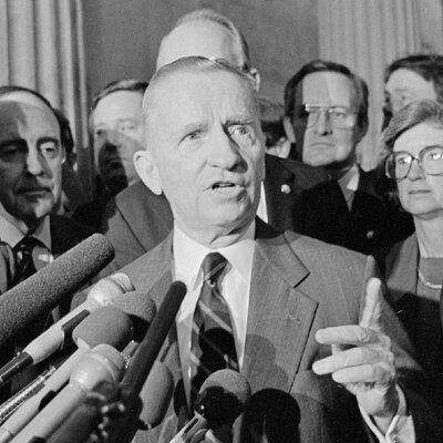 Perot speaks at the U.S. Capitol in the spring after the 1992 election.