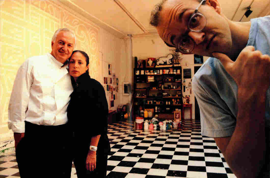 Longtime art collectors Mera and Don Rubell own several pieces by artist Keith Haring. (All three are pictured here in 1989.) The couple rarely considers selling an art work.