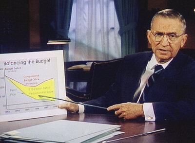 Ross Perot is shown during the second of his 30-minute commercials during a media preview in Dallas on Oct. 16, 1992.
