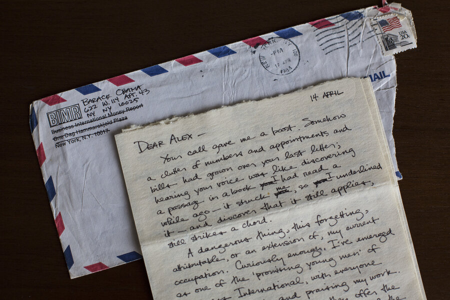 Barack Obama\u0027s Letters Written To A Girlfriend In The 1980s Part Of - love letter
