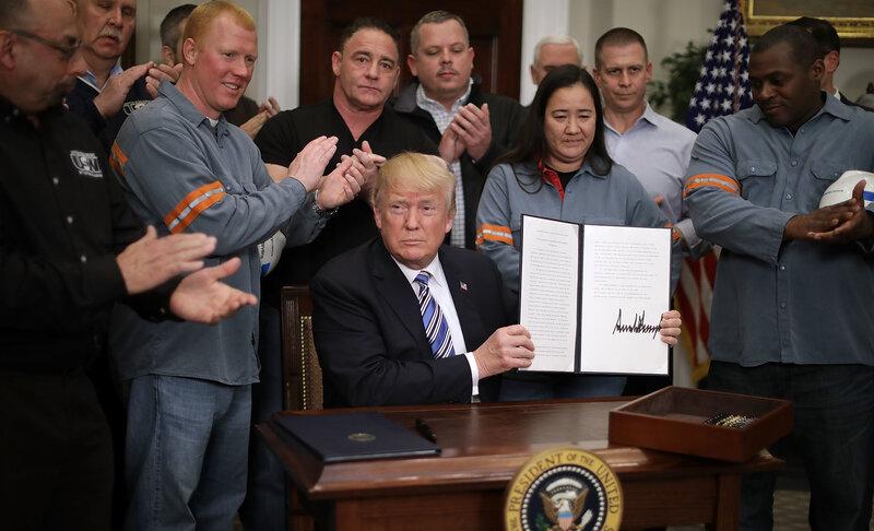 Trump Formally Orders Tariffs On Steel, Aluminum Imports  NPR