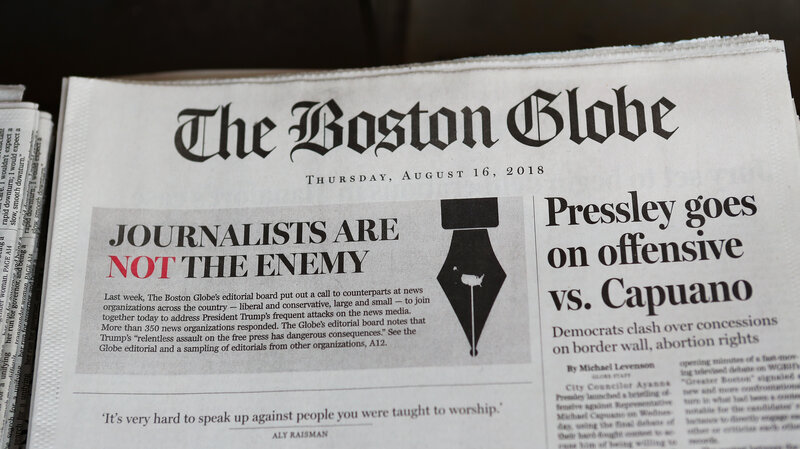 Enemy Of The People\u0027 Man Echoing Trump\u0027s Words Charged With