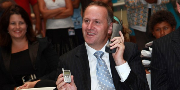Prime Minister John Key has revealed that he gets rid of his mobile phone every few months for security reasons. Photo / Norrie Montgomery