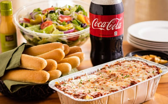 Family Style Lasagna Bundle Lunch Dinner Menu