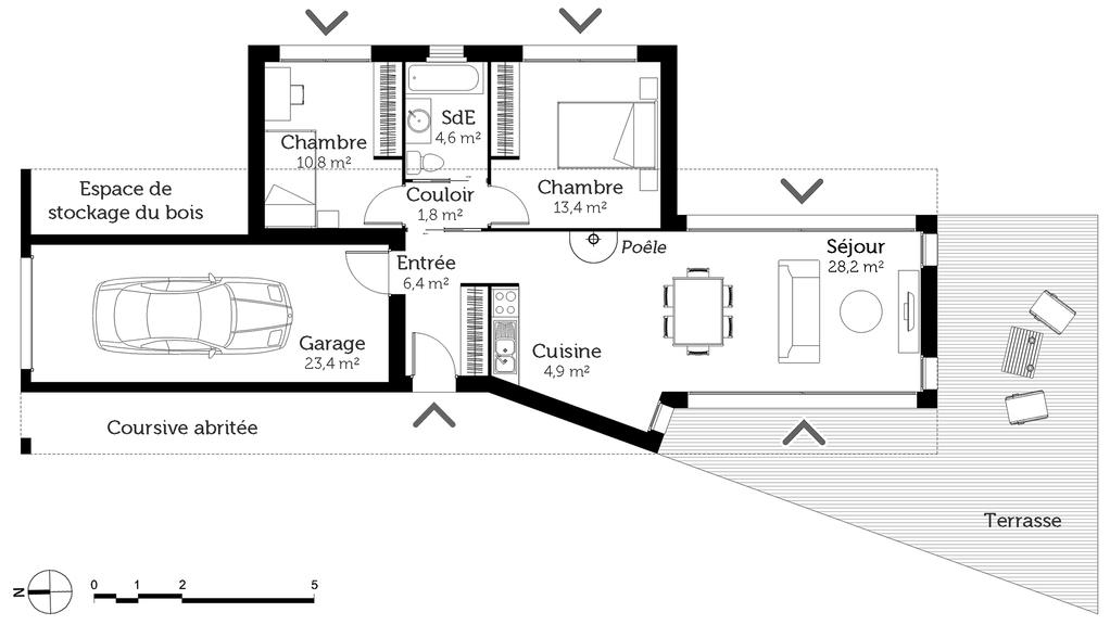 ... Plan Maison Moderne 70 M²   Ooreka ...