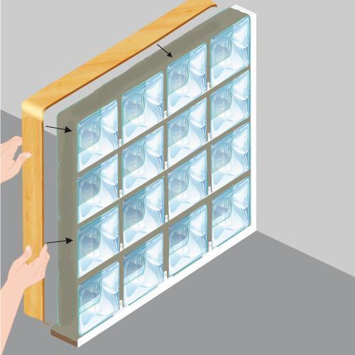 Poser des briques de verre - Mur