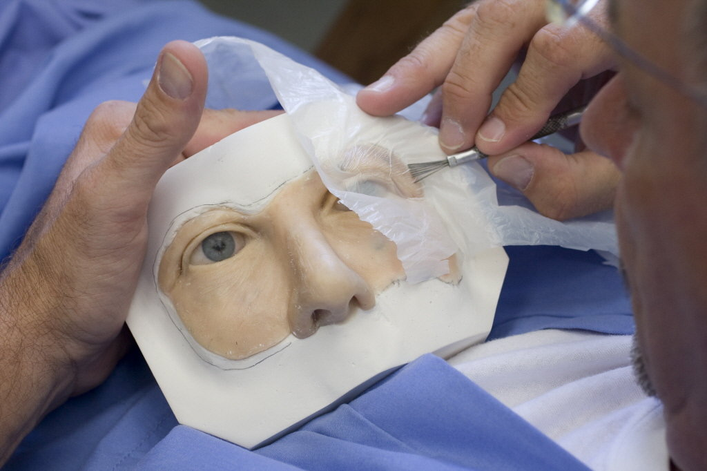 In the process of fabricating a maxillofacial prosthetic mask - medical evaluation