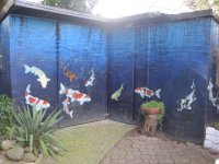 Outdoor murals dress up sheds, garages and blank walls ...