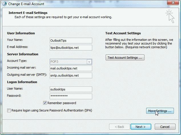 How to create a new Outlook 2007 or 2010 profile - Outlook Tips - create outlook account