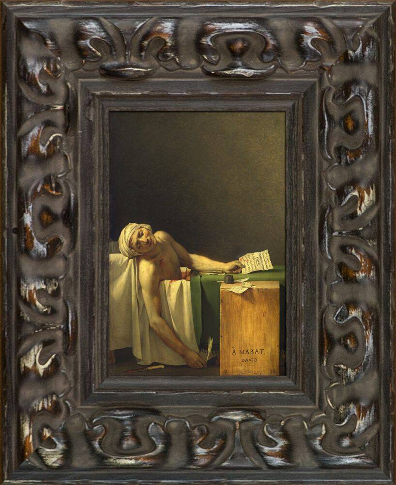Wall Art Credence The Death Of Marat Pre Framed Miniature